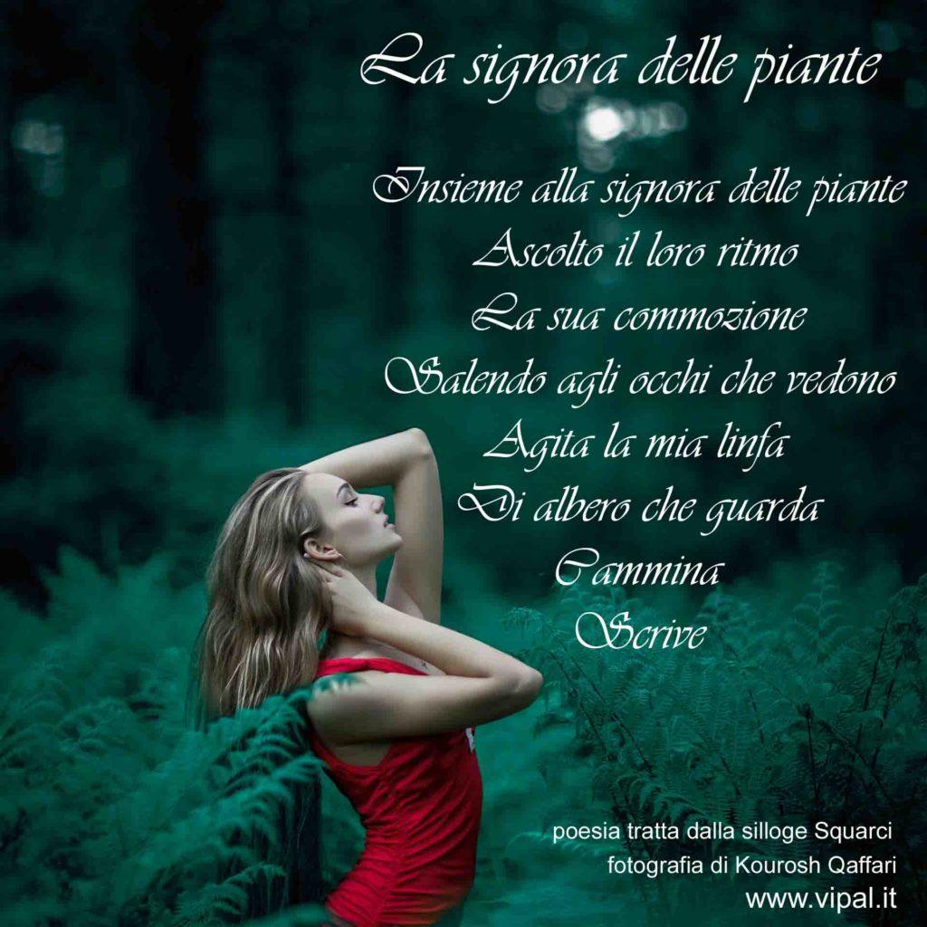 Testo poesia la signora delle piante silloge Squarci Vipal Antonio Gianfranco Gualdi