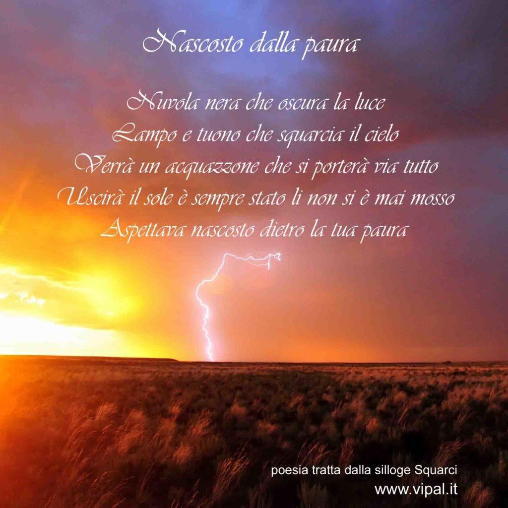 Testo Nascosto dalla paura poesia edita libro Squarci Vipal Antonio Gianfranco Gualdi