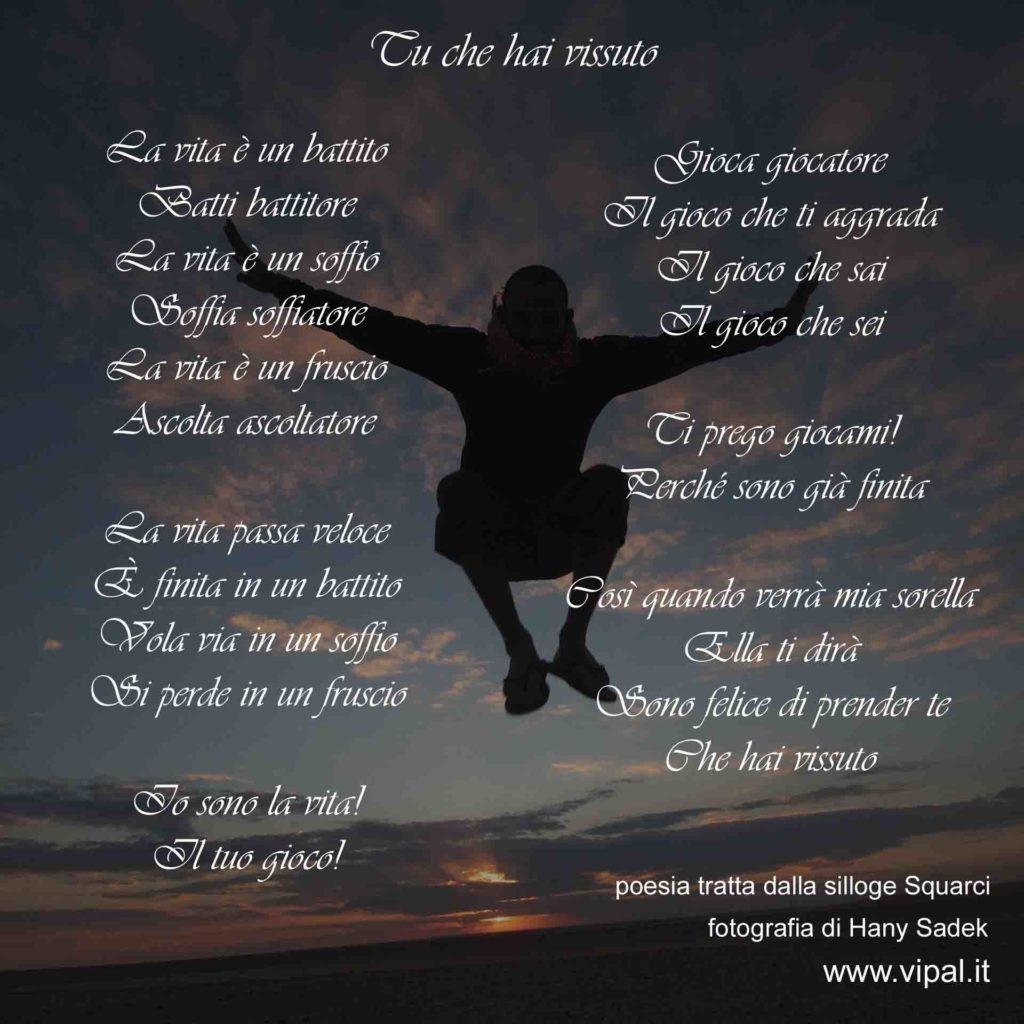 Poesia tu che hai vissuto Vipal Antonio Gianfranco Gualdi silloge Squarci